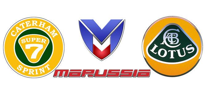 Nuevos nombres y logos: Caterham (Team Lotus), Marussia (Marussia Virgin) y Lotus (Lotus-Renault).