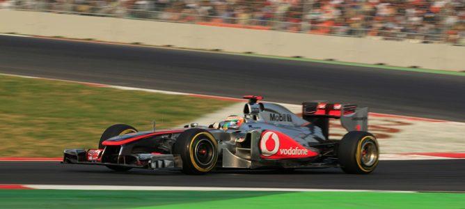 Hamilton rodando en los Libres 2 de Abu Dhabi