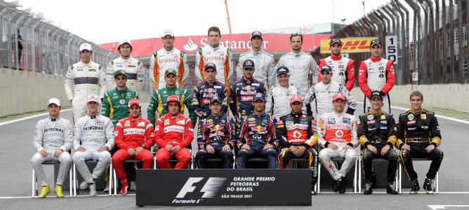 Foto de los pilotos de final de temporada de 2011