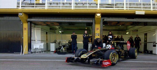Raikkonen ya rueda con un monoplaza de Lotus