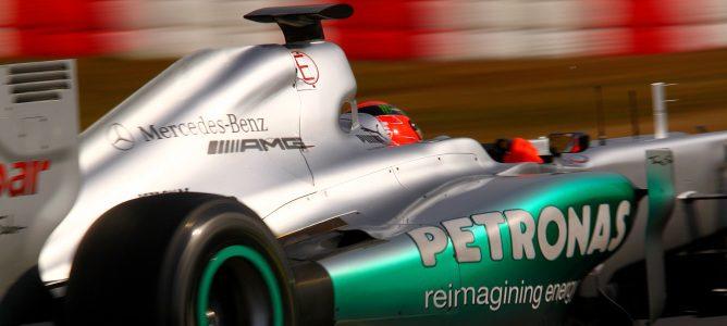 Schumacher rodando en pista durante los Libres 2 de Shanghái