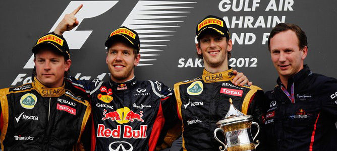Podio del Gran Premio de Bahréin 2012