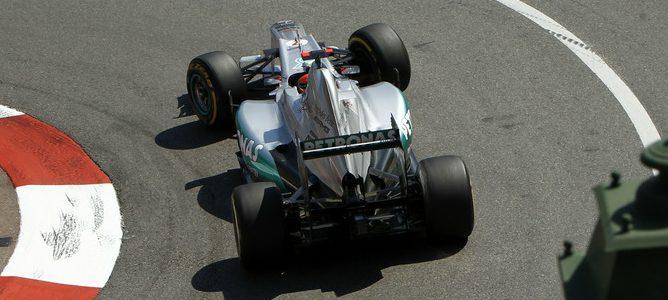 Schumacher rodando en la clasificación de Montecarlo