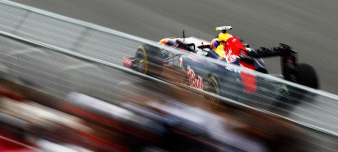 Webber rodando en pista