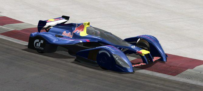 Este es un prototipo del futuro de los monoplazas de F1 realizado por el videojuego Gran Turismo 5 junto al equipo Red Bull