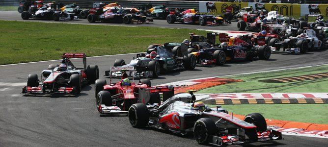 Salida del Gran Premio de Italia