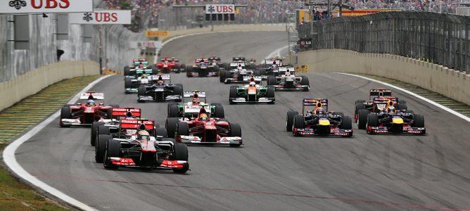 Salida del Gran Premio de Brasil