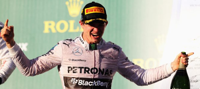 Rosberg en el podio