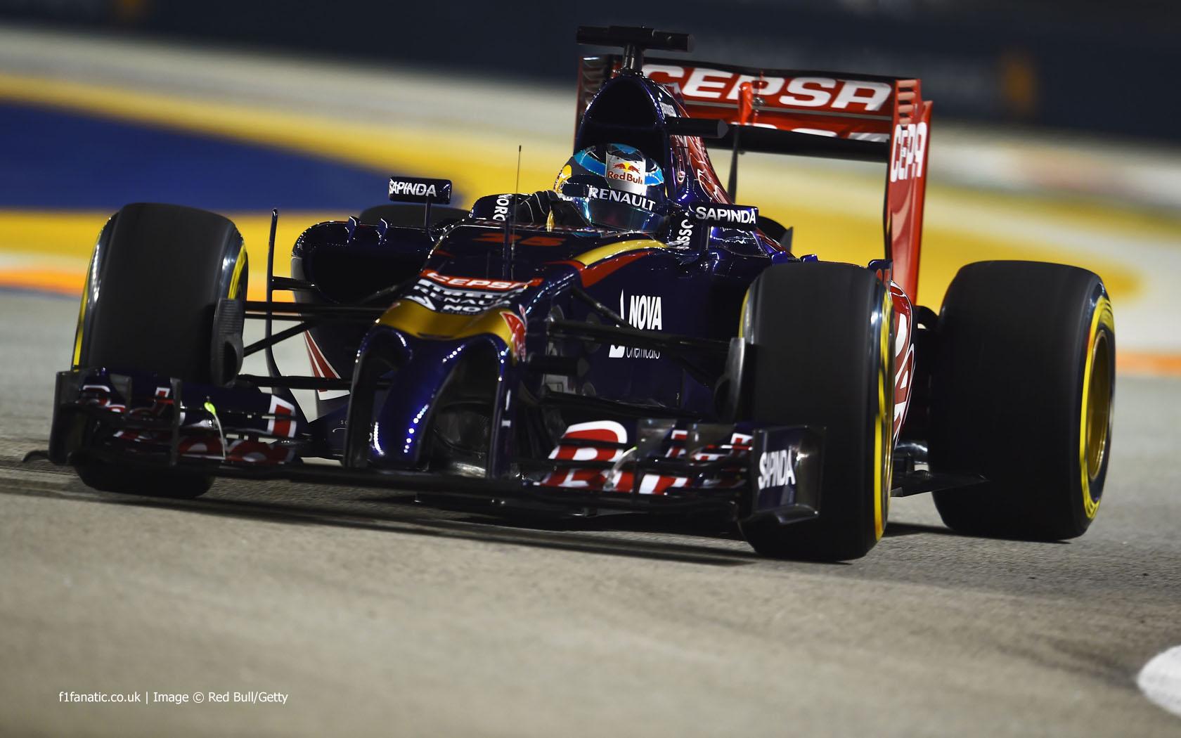 Jean Eric Vergne Toro Rosso Singapore F1 Fanatic