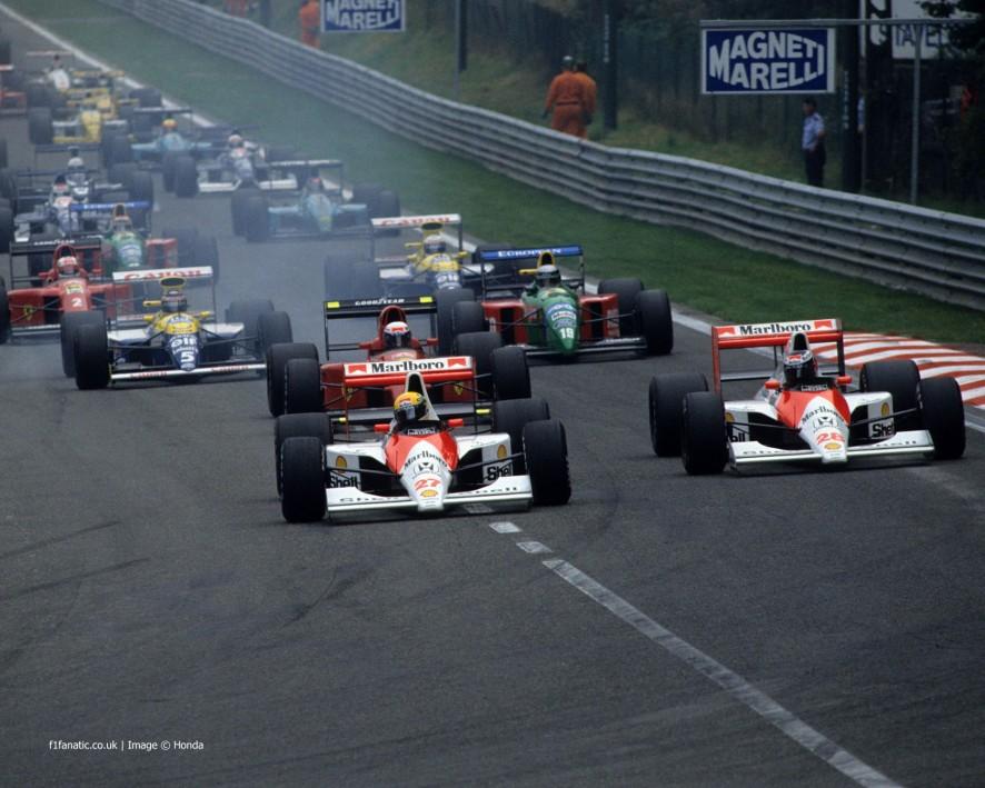 Image result for 1990 Belgian Grand Prix start