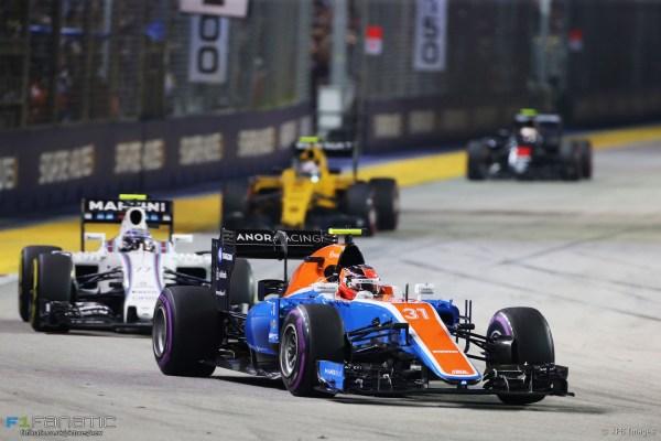 Esteban Ocon, Manor, Singapore, 2016 · F1 Fanatic
