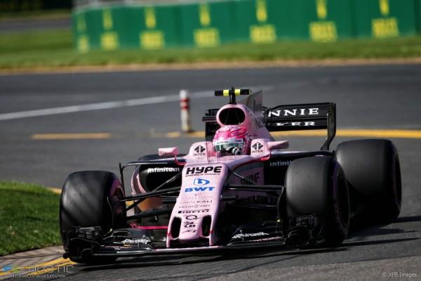 Esteban Ocon, Force India, Albert Park, 2017 · F1 Fanatic