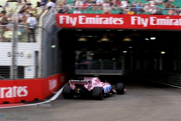 Esteban Ocon, Force India, Singapore, 2017 · F1 Fanatic