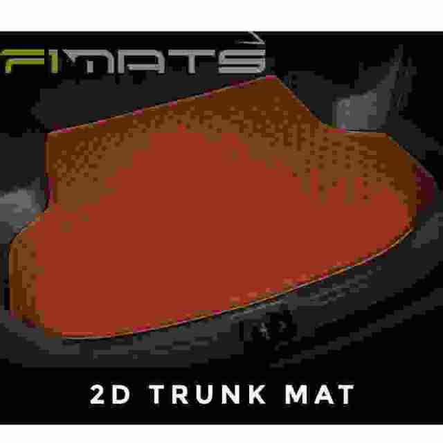 Brown Stitching Luxury Diamond Car Mats 2D Trunk Set