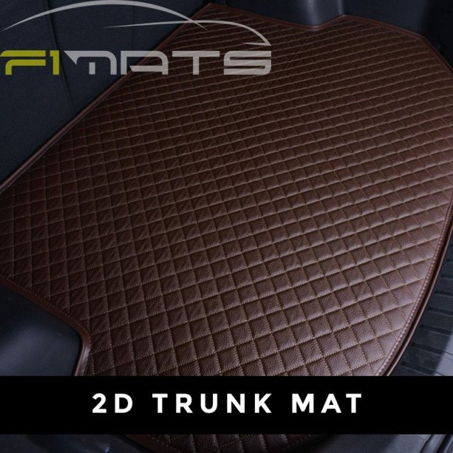 Diamond Car Mats Dark Brown 2D Trunk Set