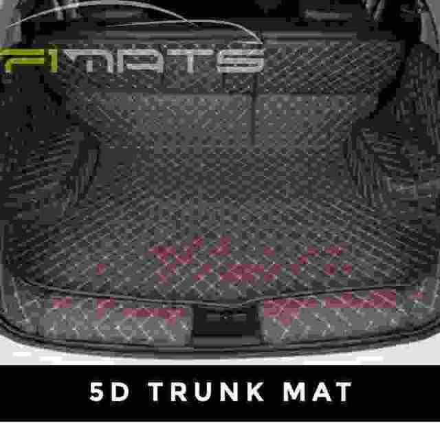 Diamond Car Mats Dark Brown 5D Trunk Set