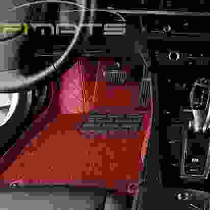 Diamond Car Mats Red and Red Floor Set