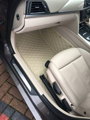 Beige Luxury Diamond Car Mats Set photo review