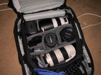Canon XF400 a Peak Design Travel Backpack v Africe