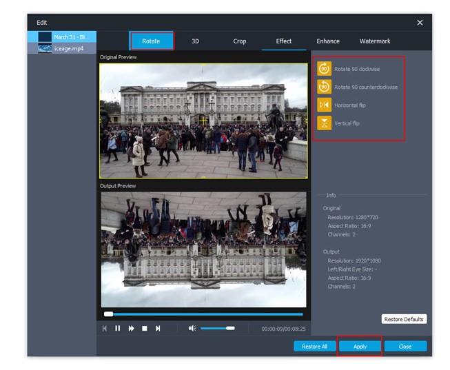 M2TS Converter Editting Effect