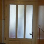 nyitható ablakos borovi ajtó