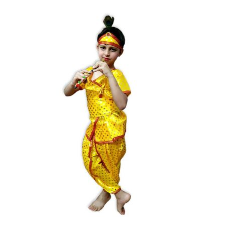 Kids Bal Krishna Costume Fancy Dress on Rent