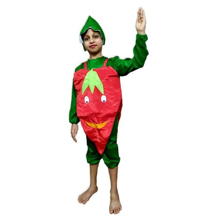 Kids Red Chilly Costume Fancy Dress on Rent