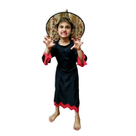 Kids Wicked Witch Costume Fancy Dress on Rent