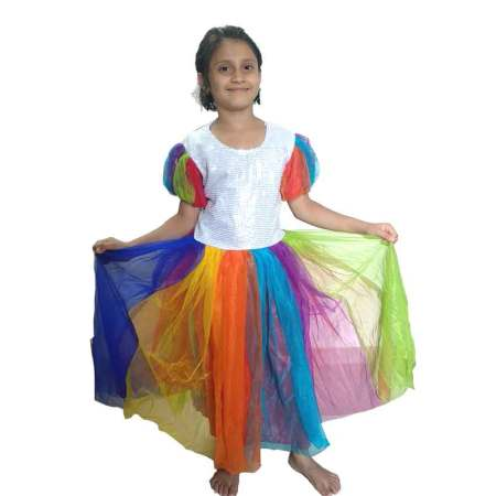 Rainbow Girl Costume on Rent