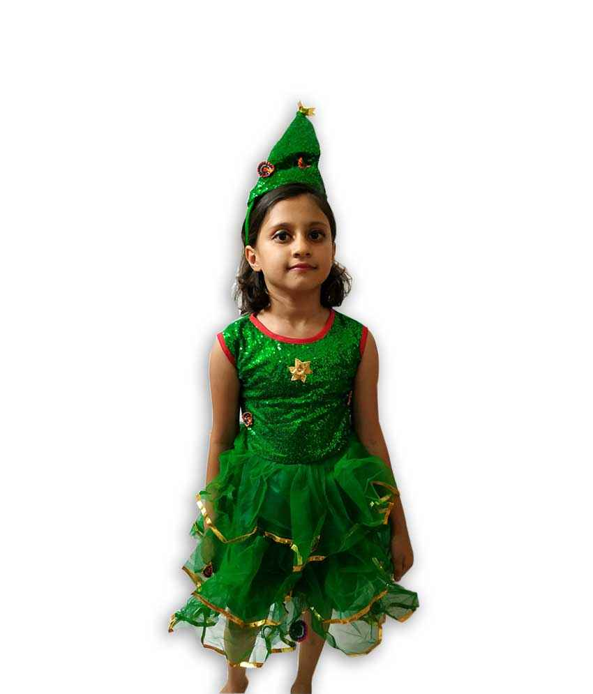 Christmas Tree Costume.Hire Christmas Tree Girl Costume Fancy Dress Costumes On Rent In Pune