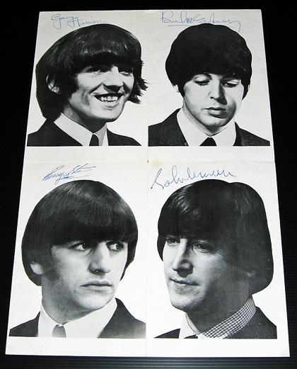 beatles authentic autographs