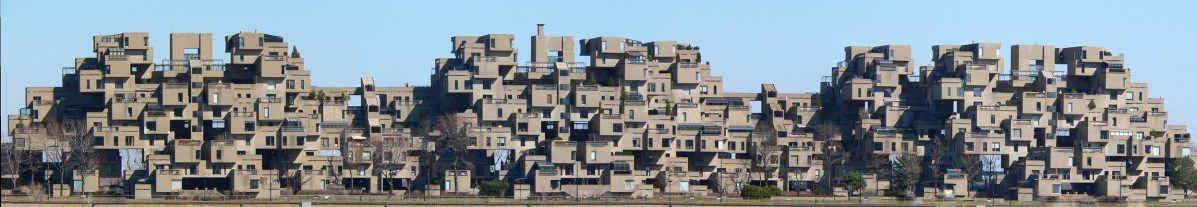 View of Habitat 67 in Montreal, many say it looks like lego