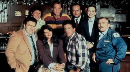 The cast from the TV series Cheers