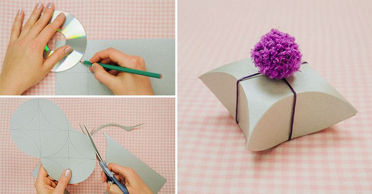 how to diy square pillow paper gift box