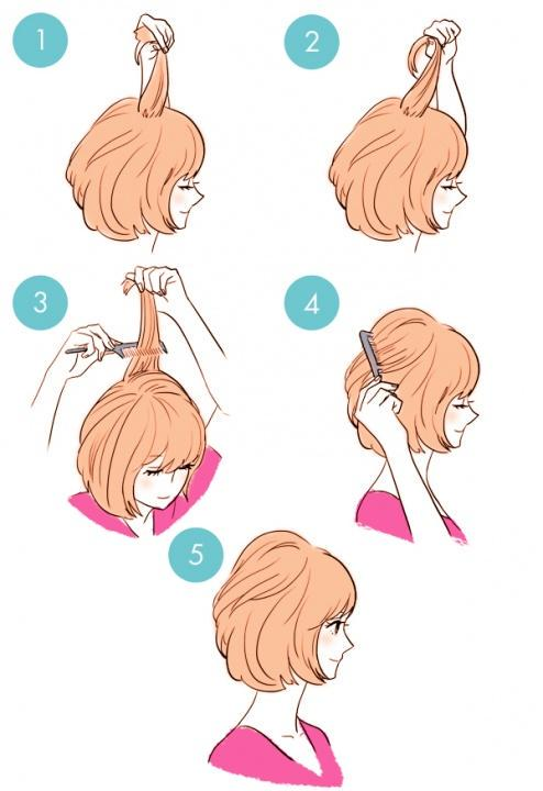 Simple tutorials to style hair fringe12
