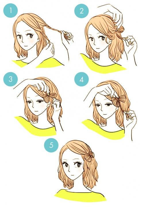 Simple tutorials to style hair fringe7