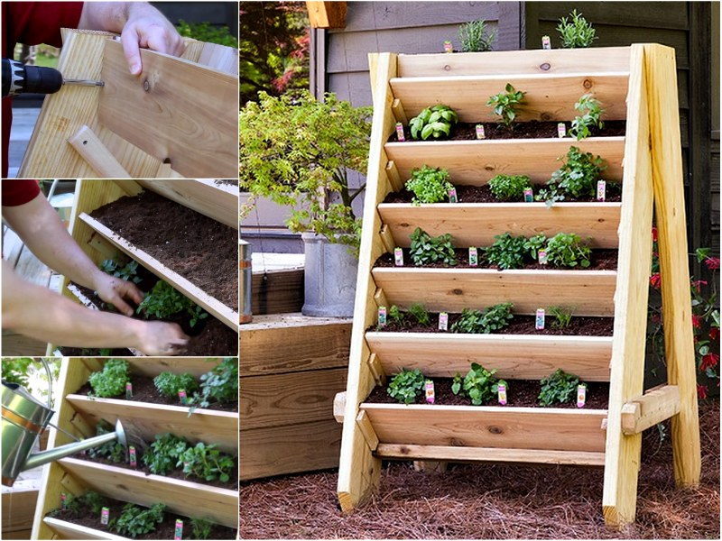 How to DIY Vertical Wall Garden Planter5