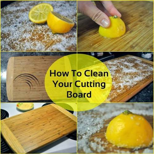 clean and disinfect your wooden cutting boards