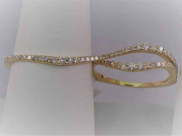 Yellow Gold 2 Finger Diamond Ring - $1,000