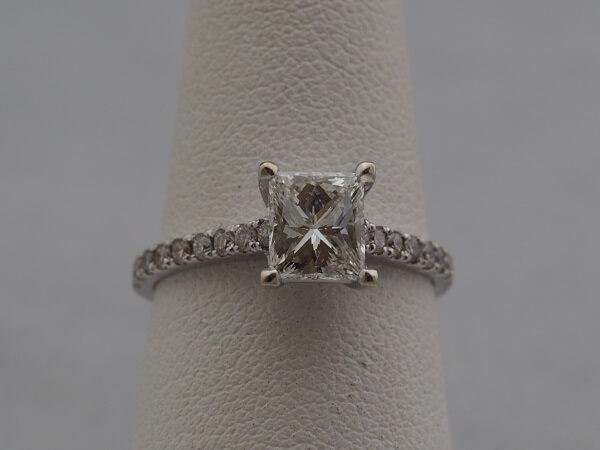 Approx. 1.2ct Center Diamond, .36ctw Accent Stones - $3,000
