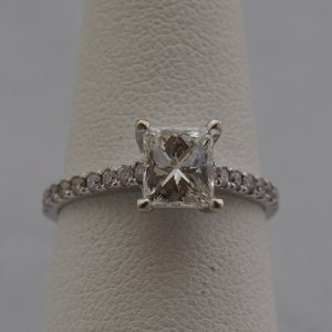 Approx. 1.2ct Center Diamond, .36ctw Accent Stones - $3,000