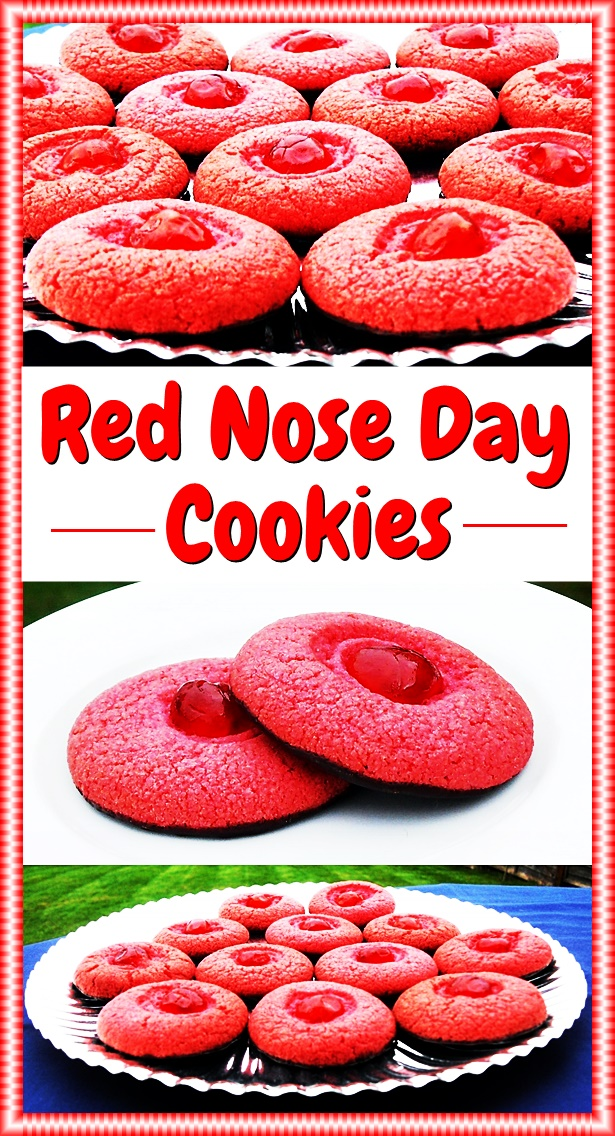 Red Nose Day Cookies perfect for a bake sale! @FabFood4All