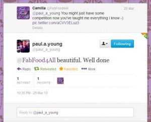 Paul A Young Tweet