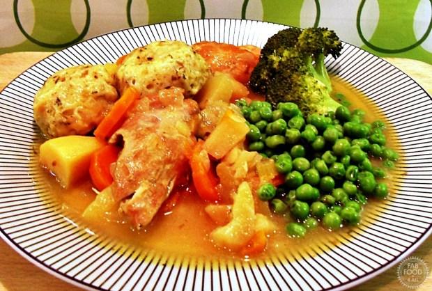 Chicken Casserole & Cheesy Herb Dumplings