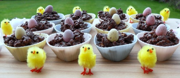 Easter Chocolate Granola Cakes