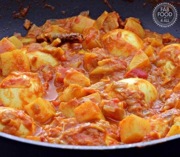 Egg, Leek and Potato Curry - Fab Food 4 All