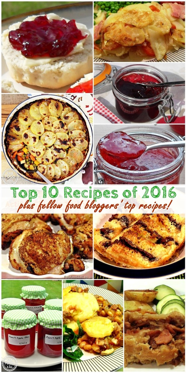 Top 10 Recipes of 2016 - Fab Food 4 All