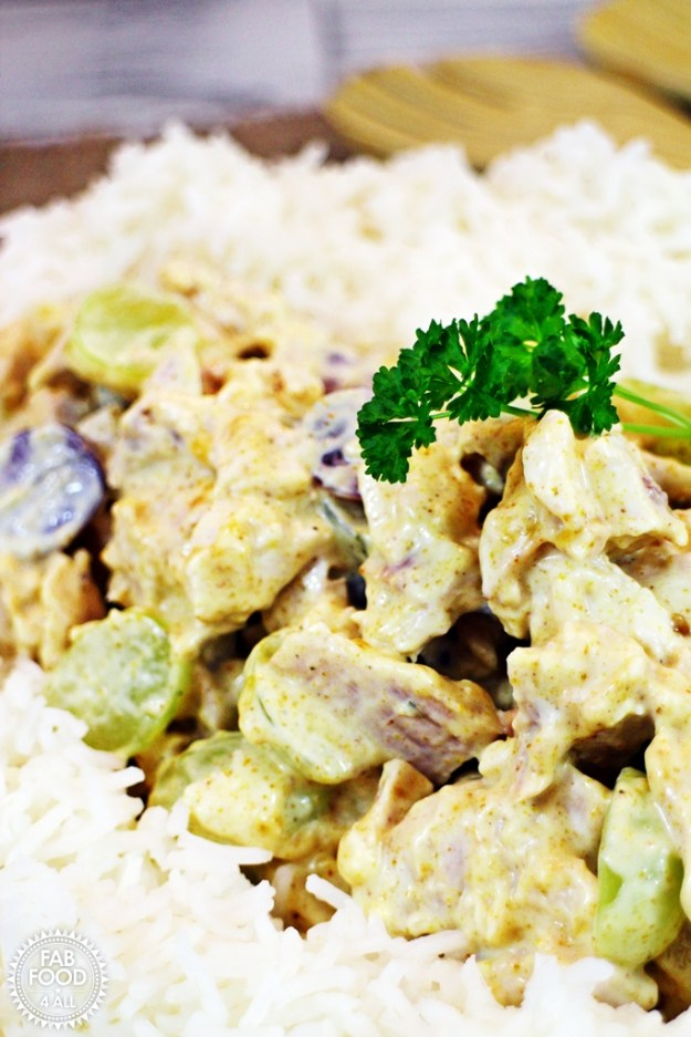 Chicken Fiesta is similar to Coronation Chicken but has grapes and apricot jam for a delicious twist! @FabFood4All