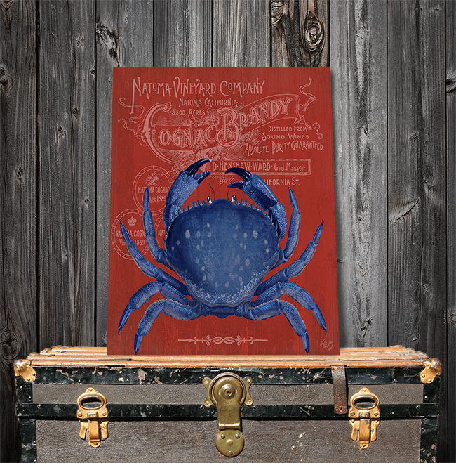 Prohibition Crab On Red