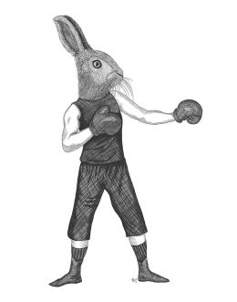 Boxing Hare 1